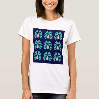 MOROCCO FOLK FLOWERS HAND PAINTED T-Shirt