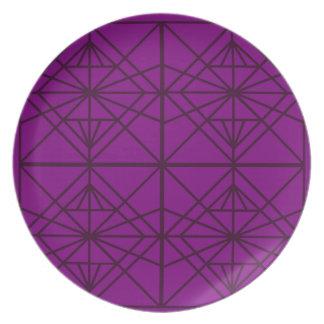Morocco Geometric luxury Art / Crystal edition Plate