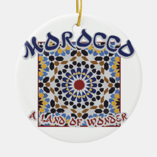 Morocco Land Of Wonder Round Ceramic Decoration