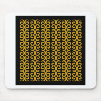 MOROCCO LUXURY GOLD ETHNO SPIRALS MOUSE PAD