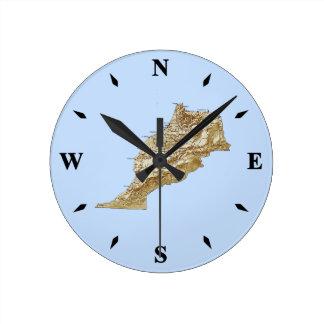 Morocco Map Clock