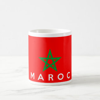 morocco maroc flag country french text name coffee mug