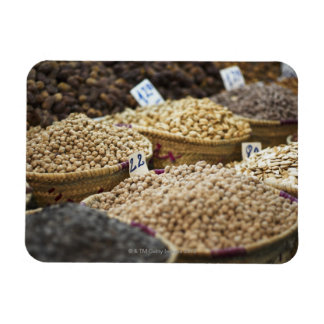 Morocco,Marrakesh,The Medina,Local produce on a Rectangular Photo Magnet