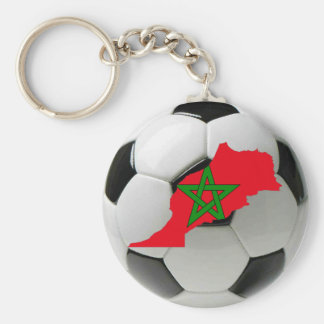 Morocco national team basic round button key ring