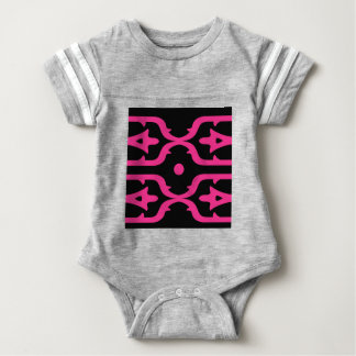 MOROCCO PINK BLACK ETHNO SUMMER BABY BODYSUIT