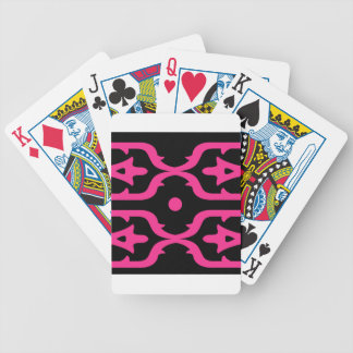 MOROCCO PINK BLACK ETHNO SUMMER BICYCLE PLAYING CARDS