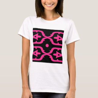 MOROCCO PINK BLACK ETHNO SUMMER T-Shirt