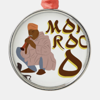Morocco Snake Charmer Silver-Colored Round Decoration