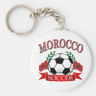 Morocco soccer designs basic round button key ring