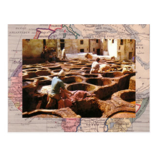 Morocco, Tannerie in the open air Postcard