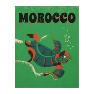 Morocco vintage travel poster art