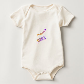 Morocco world country,  colorful text art baby bodysuit