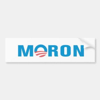 MORON Anti Obama Bumper Sticker