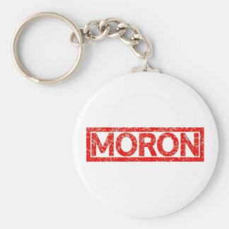 Moron Stamp Basic Round Button Key Ring