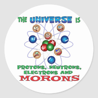 Morons Classic Round Sticker