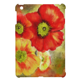 Morpheus's Abstract Red Poppies iPad Mini Covers