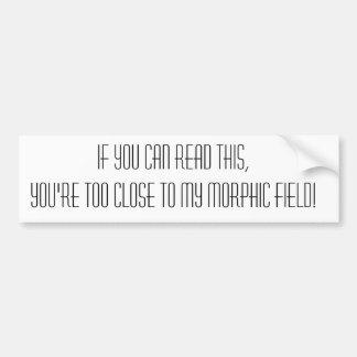 Morphic Field Bumpersticker Bumper Sticker