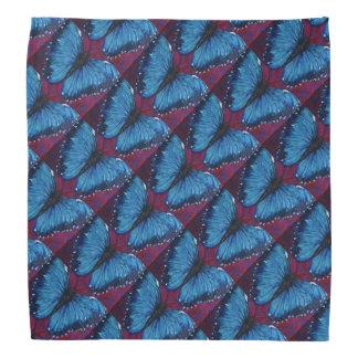 Morpho Butterfly Pattern Head Kerchief