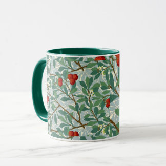 Morris -  Arbatus, berry red and turquoise, Mug