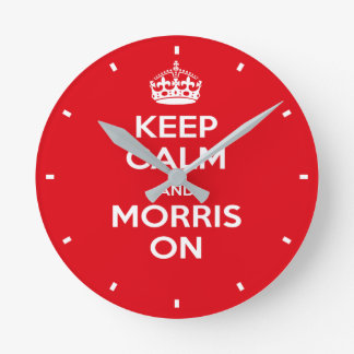 Morris Dancer's Red Keep Calm Morris Dancing Clock