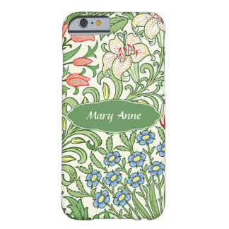 Morris Floral Garden Pattern Personalized Monogram Barely There iPhone 6 Case