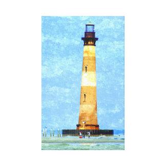 Morris Island Lighthouse Oil on Canvas