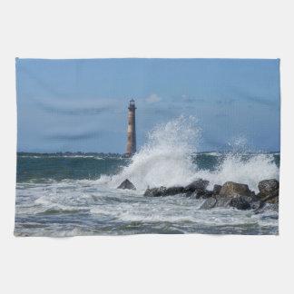 Morris Island Lighthouse Splash Tea Towel