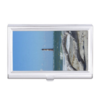 Morris Lighthouse And Tree Remains Business Card Holder