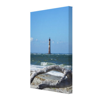 Morris Lighthouse And Tree Remains Canvas Print