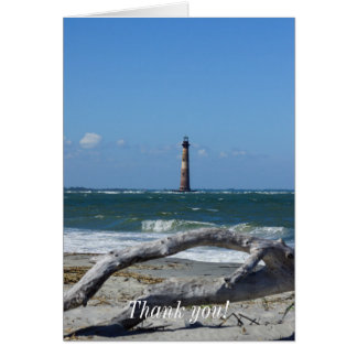 Morris Lighthouse And Tree Remains Card