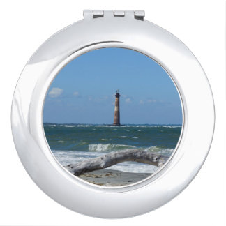 Morris Lighthouse And Tree Remains Compact Mirror