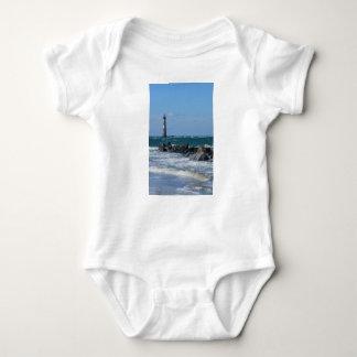 Morris Lighthouse Folly Beach Baby Bodysuit