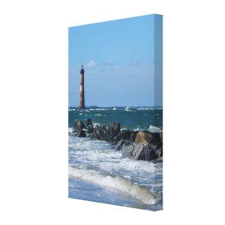 Morris Lighthouse Folly Beach Canvas Print