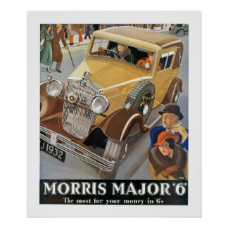 Morris Major '6' Automobile Ad Poster