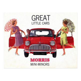 Morris Mini Minor 1963 Postcard