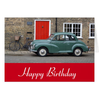 Morris Minor Classic Car Greeting Card