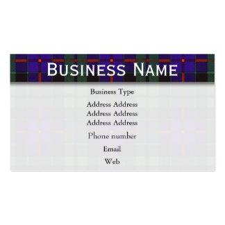 Morrison clan Plaid Scottish tartan Pack Of Standard Business Cards