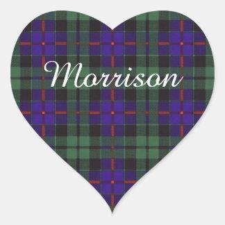 Morrison clan Plaid Scottish tartan Heart Sticker