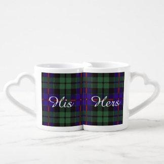 Morrison clan Plaid Scottish tartan Lovers Mug Set