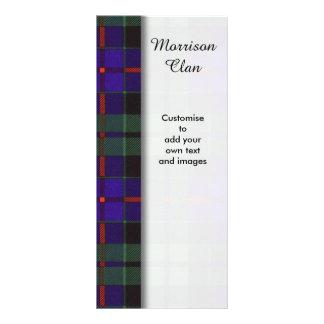 Morrison clan Plaid Scottish tartan Rack Card Template