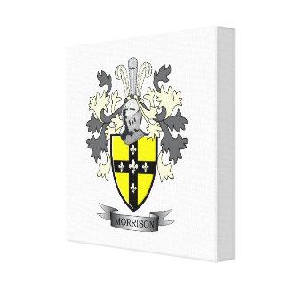 Morrison Family Crest Coat of Arms Canvas Print