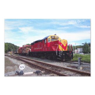 Morristown and Erie Railroad Engine # 22 Kodak Photo