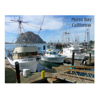 Morro Bay Fishing Boats Postcard! Postcard