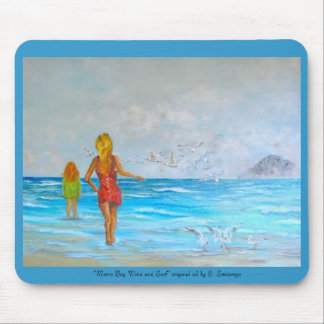 """Morro Bay Wind and Surf"" original ... Mouse Pad"