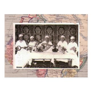 Morrocan musicians postcard