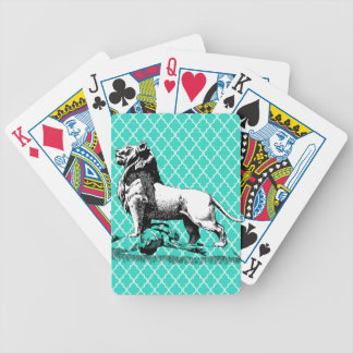 morrocco lion bicycle playing cards