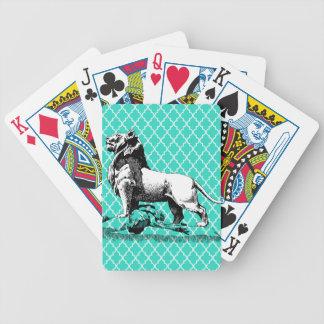 morrocco lion poker deck