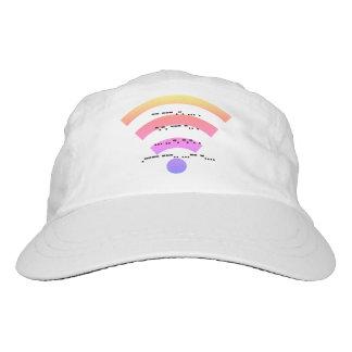 Morse code design hat