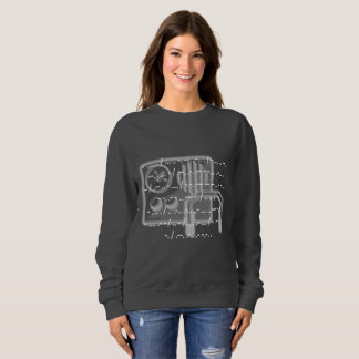 Morse code GB Shaw quote ladies sweatshirt