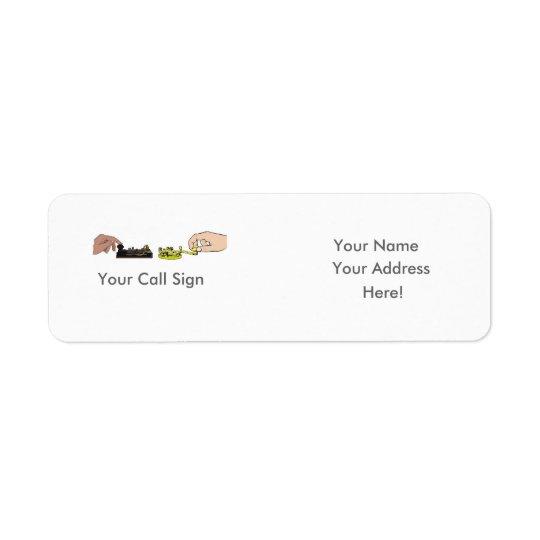 Morse Code Keys & Fists  Address Label - Customise